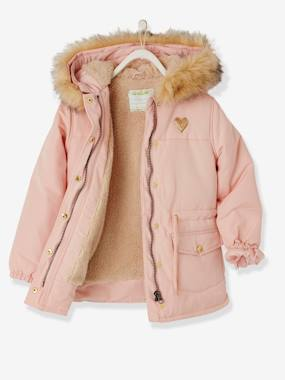 Vertbaudet Collection-Girls-Parka with Sherpa Lining for Girls