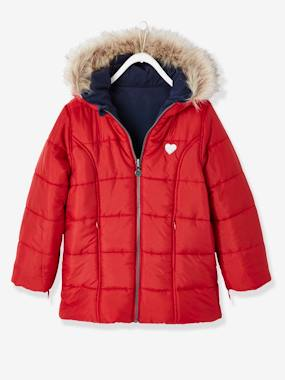 Vertbaudet Sale-Reversible Parka for Girls