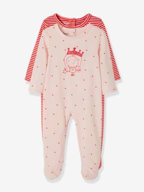 Vertbaudet Sale-Baby-Pack of 2 Cotton Pyjamas, Press Studs on the Back