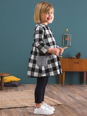 Vertbaudet Sale-Girls' Dress & Leggings Set