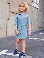 Light Denim Dress for Girls  - vertbaudet enfant