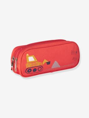 Boys-Accessories-Ties & Bowties-Pencil Case with Backhoe and Double Compartment, for Boys