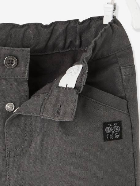 Indestructible Trousers with Lining for Baby Boys GREY DARK SOLID - vertbaudet enfant