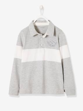 T-shirts-Long-Sleeved Polo Shirt for Boys