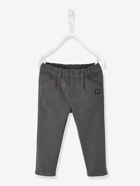ba1e9a069 Indestructible Trousers with Lining for Baby Boys - grey dark solid
