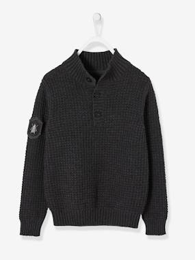Vertbaudet Sale-Boys-Cardigans, Jumpers & Sweatshirts-Slub-Look Jumper for Boys