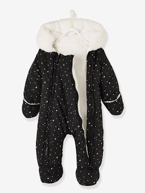 Vertbaudet Sale-Baby-Outerwear-Jumpsuit with Printed Iridescent Stars, for Babies
