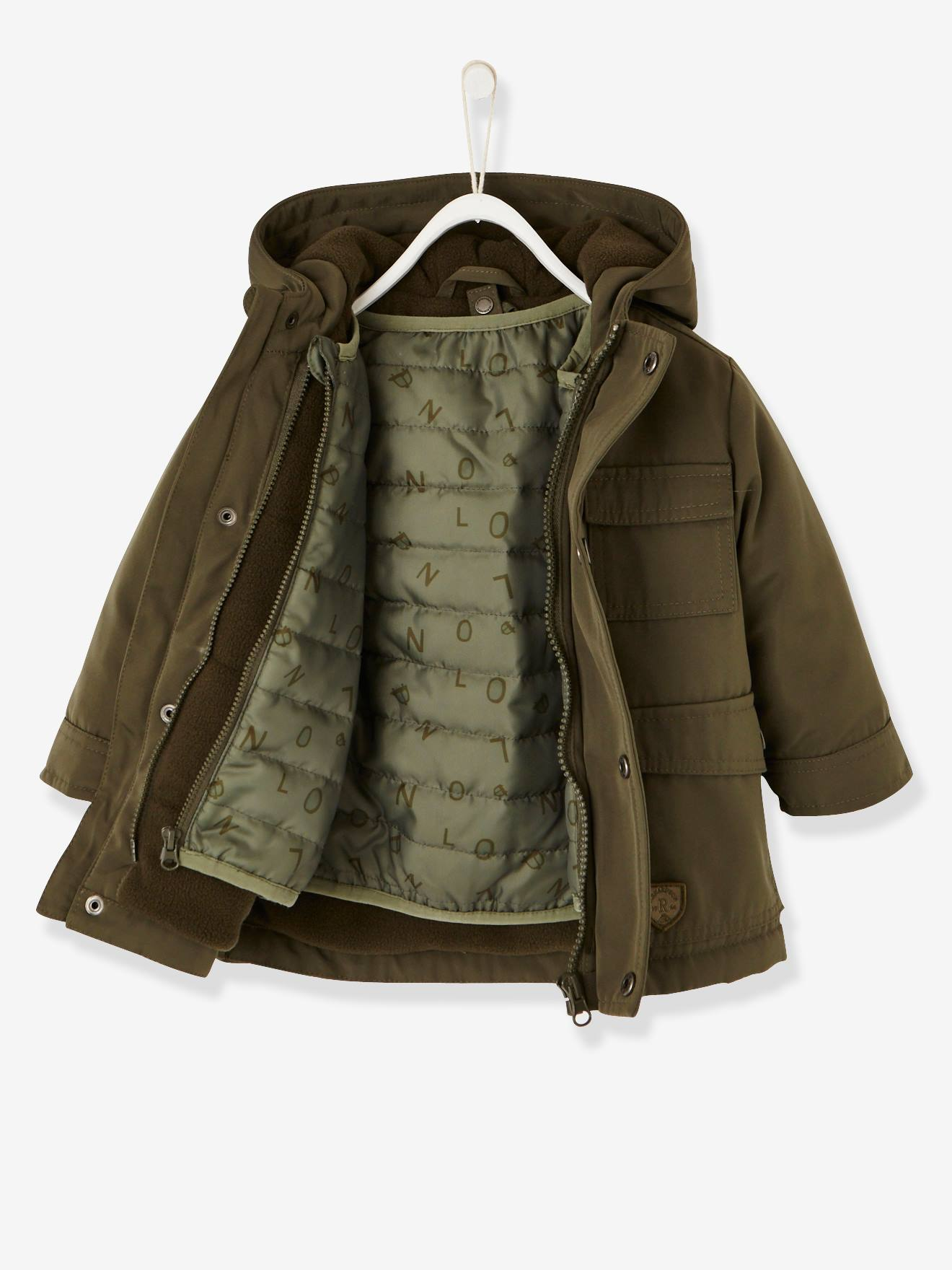 VERTBAUDET 3-in-1 Parka with Detachable Jacket for Baby Boys