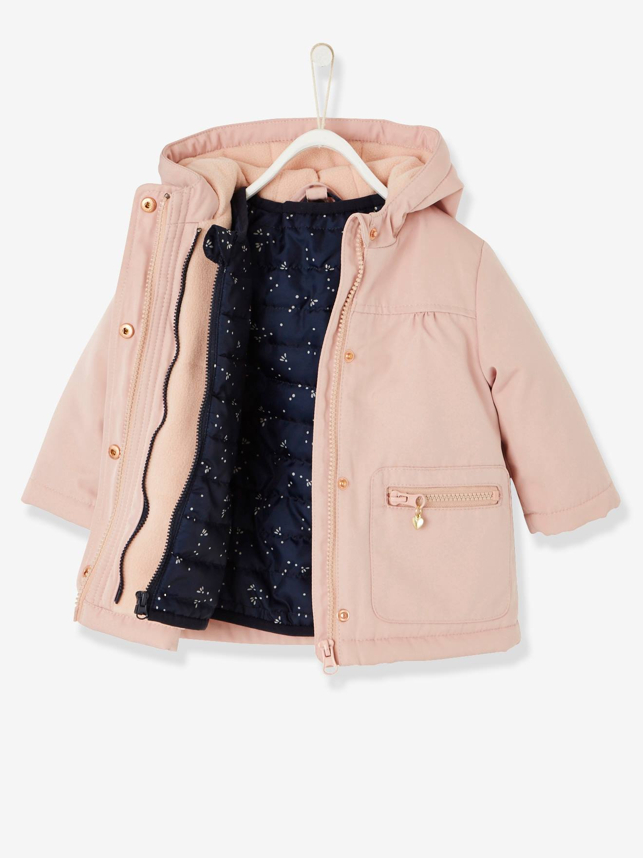 190b39eda 3-in-1 Parka with Removable Jacket, for Baby Girls - beige light solid, Baby