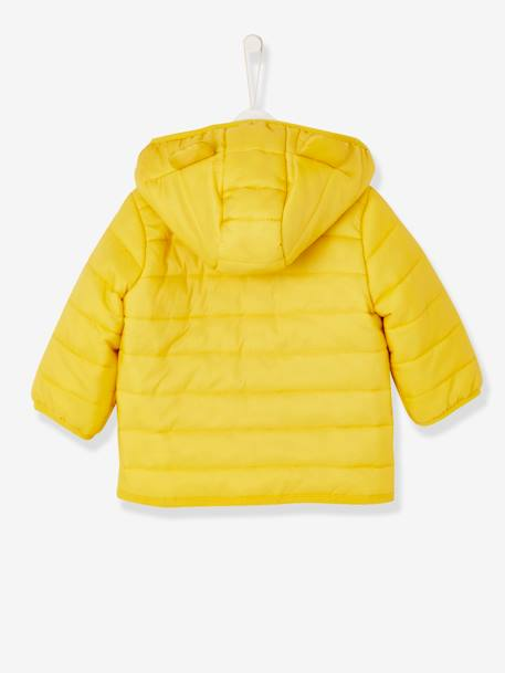 Babies' Lightweight Jacket with Stylish Hood BLUE LIGHT SOLID+BLUE MEDIUM SOLID+RED BRIGHT SOLID+YELLOW DARK SOLID - vertbaudet enfant