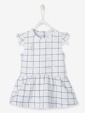 Schoolwear-Baby-Printed Fleece Dress for Baby Girls