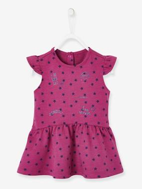 bebe-citysport-Printed Fleece Dress for Baby Girls