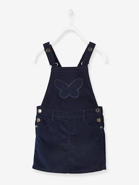 Outlet-Girls-Dresses-Fine Corduroy Pinafore Dress for Girls