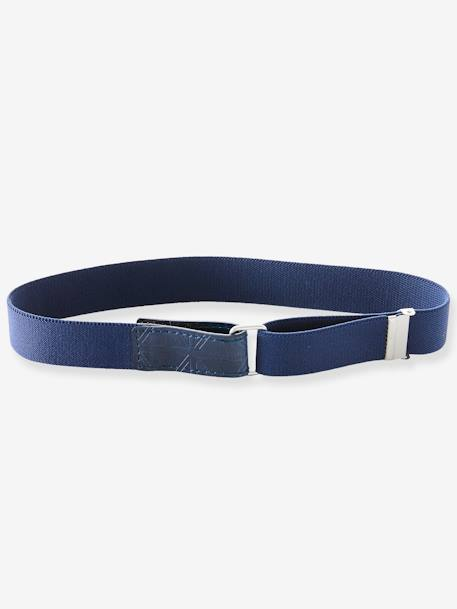 Adjustable Elasticated Belt for Boys BLUE DARK SOLID - vertbaudet enfant