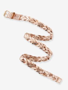 Megashop-Girls-Leather Braided Belt for Girls