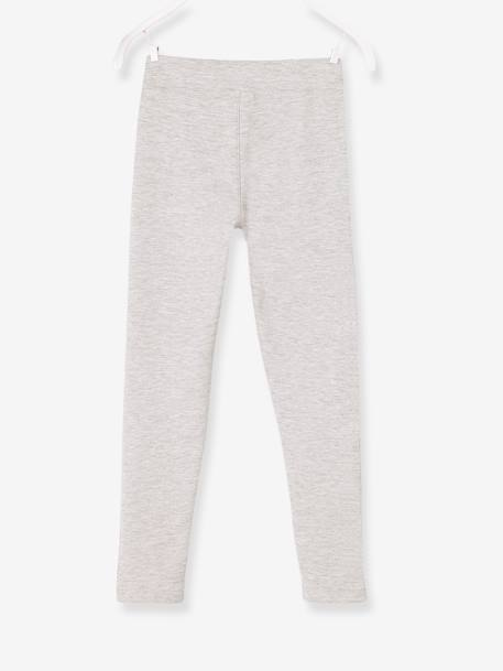 Girls' Treggings in Milano Knit BLACK DARK SOLID+GREY MEDIUM MIXED COLOR+RED LIGHT SOLID - vertbaudet enfant