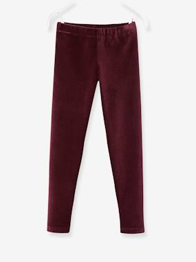 Fille-Legging-Legging fille en velours
