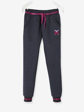 Vertbaudet Collection-Girls-Sportswear-Fleece Joggers for Girls
