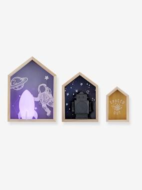 Decoration-Set of 3 Bookcases, Constellations
