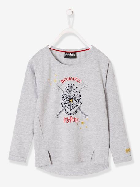 Long-Sleeved Harry Potter® Top for Girls GREY LIGHT MIXED COLOR - vertbaudet enfant