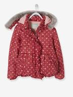Printed Padded Jacket with Fleece Lining, for Girls  - vertbaudet enfant