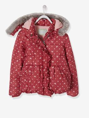 Dress myself-Printed Padded Jacket with Fleece Lining, for Girls