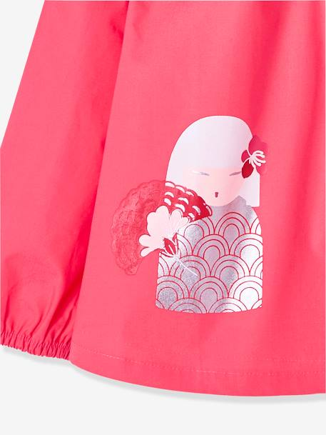 Smock for Girls RED LIGHT SOLID WITH DESIGN - vertbaudet enfant