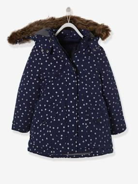 Schoolwear-4-in-1 Parka with Fleece Lining for Girls