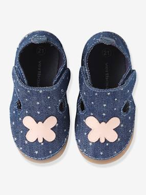 Vertbaudet Sale-Shoes-Girls Canvas Slippers