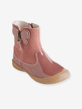 Vertbaudet Sale-Shoes-Leather Boots for Girls, Autonomy Collection