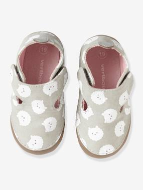 Shoes-Baby Footwear-Slippers & Booties-Shoes in Printed Fabric for Babies