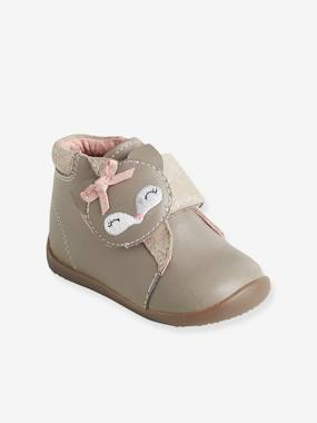 Shoes-Baby Footwear-Baby's First Steps-Leather Boots with Touch 'n' Close Fastening for Girls, First Steps