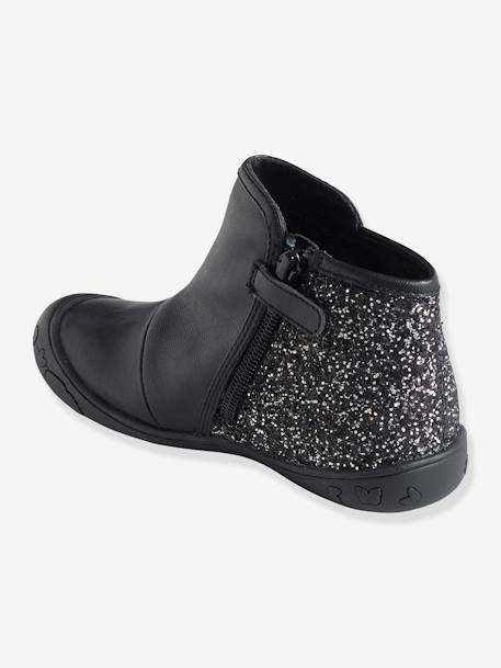 Girls' Boots Black+GREY DARK METALLIZED+PINK MEDIUM METALLIZED - vertbaudet enfant