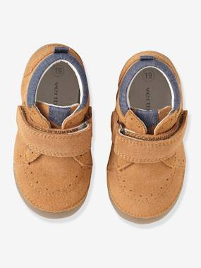 Vertbaudet Sale-Shoes-Soft Leather Shoes with Touch 'n' Close Fastening for Babies