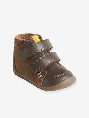 Shoes-Baby Footwear-Baby's First Steps-Leather Boots with Fur Lining for Boys, First Steps