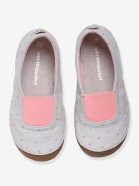T-shirts-Girls' Shoes with Fancy Pompom