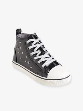Mid season sale-Shoes-High Top Trainers with Metal Details for Girls