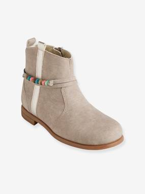 Outlet-Shoes-Boots for Girls with Decorative Tab