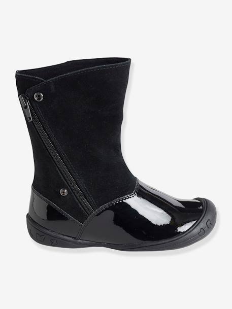 Adaptable Boots for Girls BLACK DARK SOLID+GREY DARK SOLID - vertbaudet enfant