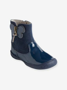 Outlet-Shoes-Leather Boots for Girls, Autonomy Collection