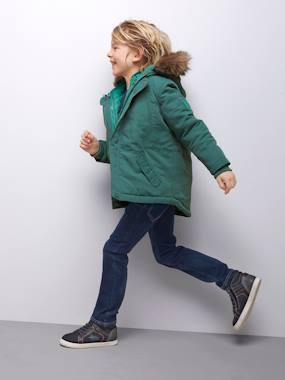 Outlet-4-in-1 Parka with Fleece Lining for Boys