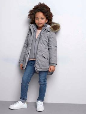 Outlet-4-in-1 Parka with Fleece Lining for Girls
