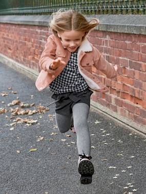 Girls-Coats & Jackets-Corduroy Jacket with Lining for Girls
