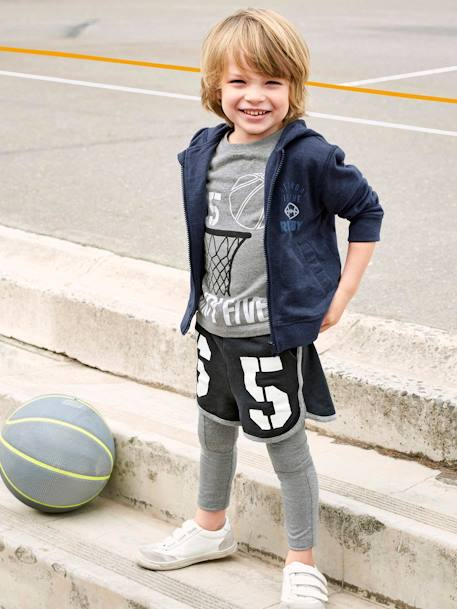 Sports Leggings for Boys GREY DARK MIXED COLOR - vertbaudet enfant