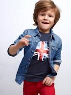 Boys' Faded-Effect Denim Shirt  - vertbaudet enfant