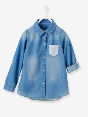 Girls-Blouses, Shirts & Tunics-Girls Denim Shirt