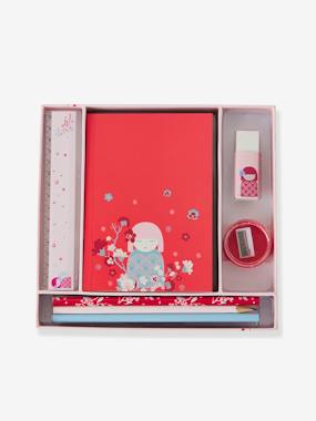 Girls-Accessories-School Supplies-Stationery Set, Japanese Doll, for Girls