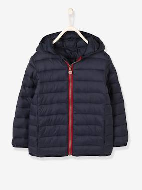 Boys-Coats & Jackets-Lightweight Padded Jacket with Hood for Boys