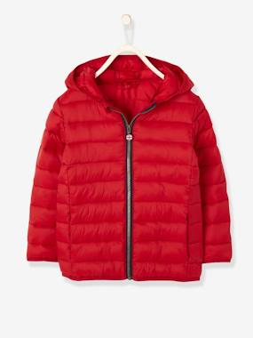 Vertbaudet Collection-Boys-Lightweight Padded Jacket with Hood for Boys