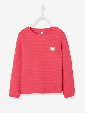 Pulls et gilets enfant-Sweat fille molleton texturé